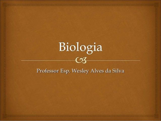 Professor Esp. Wesley Alves da Silva