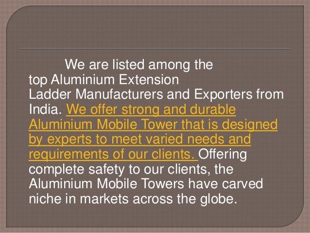 Aluminium Extension Ladder in Chennai,Bangalore,Ahmedabad,Pune Slide 2