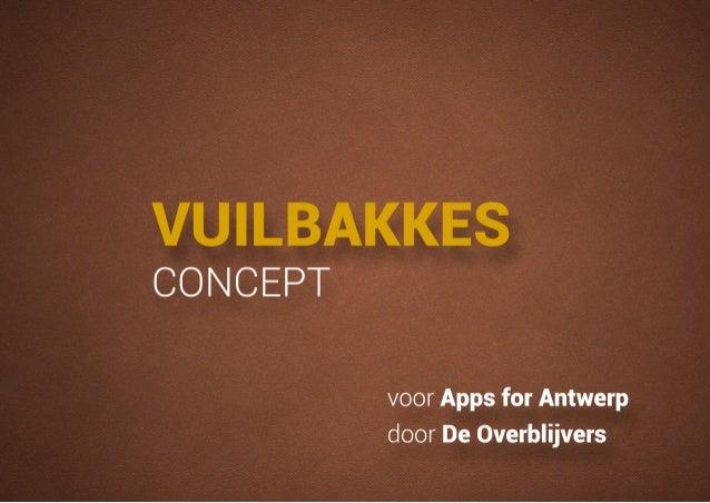 1 am concept_vuilbakkes-app_de-overblijvers