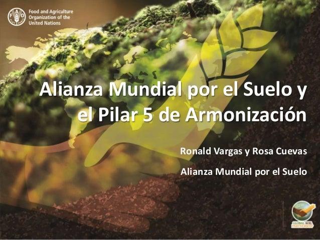 Alianza Mundial por el Suelo y el Pilar 5 de Armonización Ronald Vargas y Rosa Cuevas Alianza Mundial por el Suelo