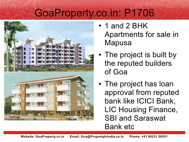 GoaProperty.co.in: P1706                                               ●   1 and 2 BHK                                    ...