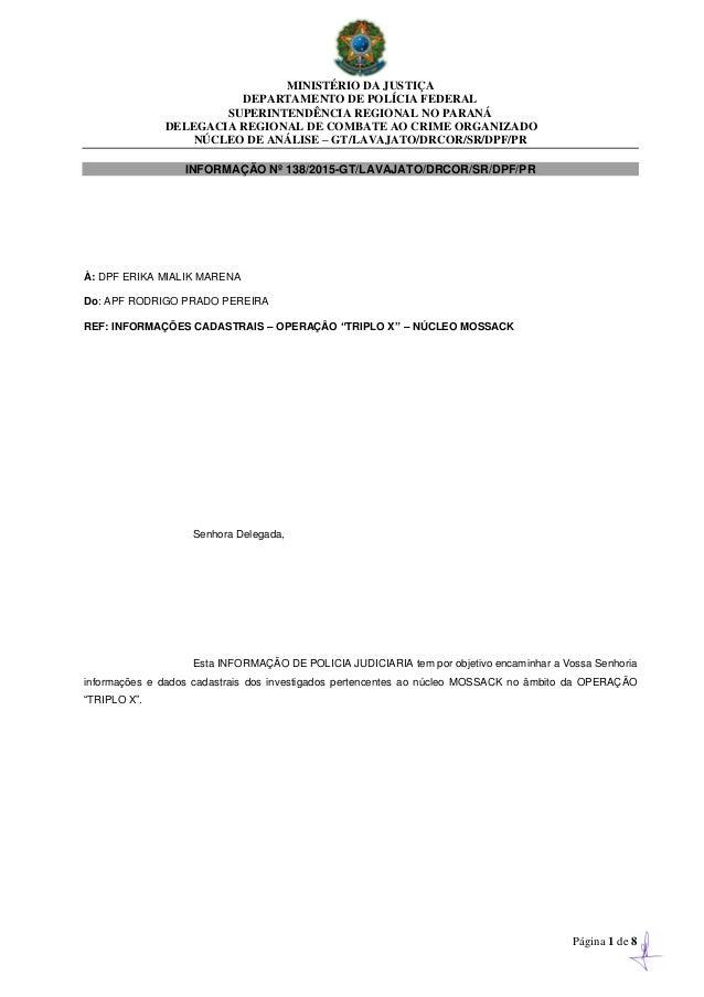 MINISTÉRIO DA JUSTIÇA DEPARTAMENTO DE POLÍCIA FEDERAL SUPERINTENDÊNCIA REGIONAL NO PARANÁ DELEGACIA REGIONAL DE COMBATE AO...