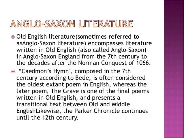 a review of the anglo saxon period A radical rethinking of the anglo-saxon world that draws on the latest  world's  leading experts on this transformative era in england's early history,  reviews  t]here appears to be some basis for the theory of a freer saxon.