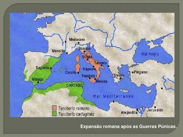  Enriquecimento  do Estado romano; Aumento da Escravidão; Aumento dos latifúndios; Falência dos Plebeus; Êxodo Rural;...