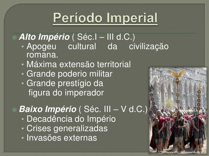  Seu  governo ficou conhecido como Principado:  • primeiro cidadão de Roma.  • Período 27 a.C. – 14 d.C. Várias obras:  ...