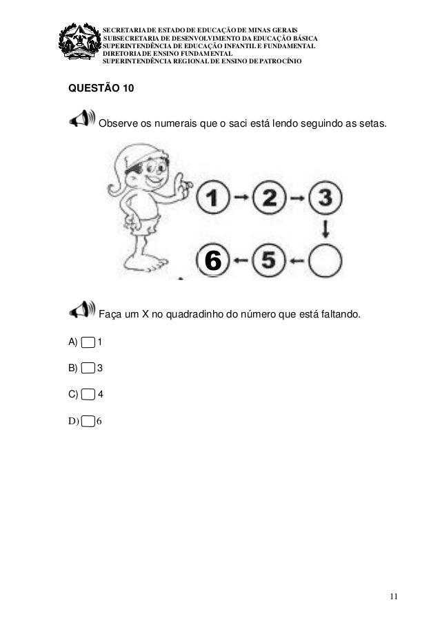 11 SECRETARIA DE ESTADO DE EDUCAÇÃO DE MINAS GERAIS SUBSECRETARIA DE DESENVOLVIMENTO DA EDUCAÇÃO BÁSICA SUPERINTENDÊNCIA D...