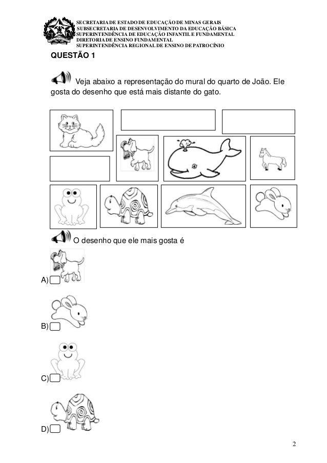 1º ano  matemática avaliação diagnóstica  Slide 2