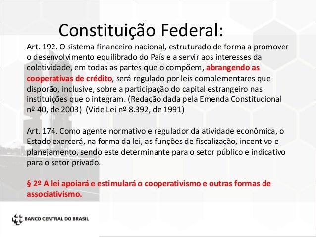 regulamentação das cooperativas de crédito