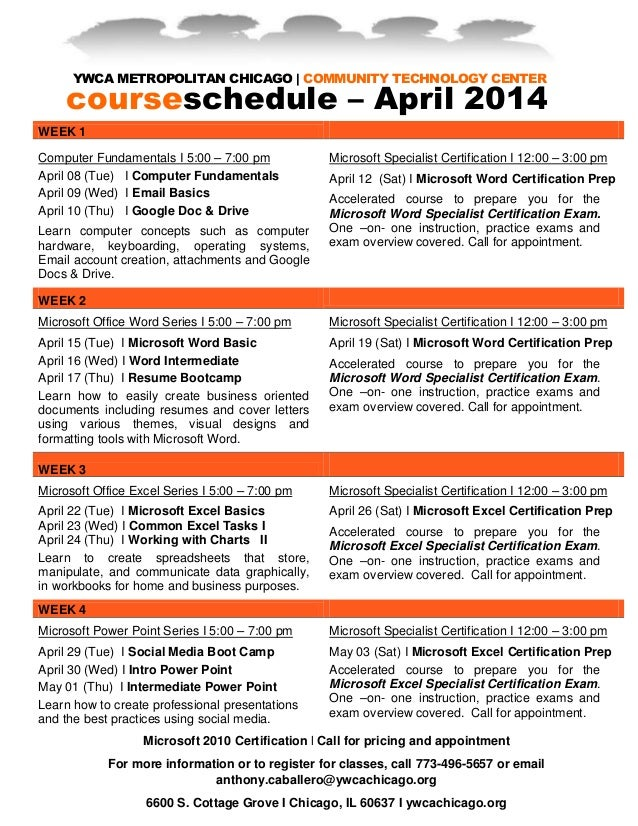 1 April Business Technology Courses