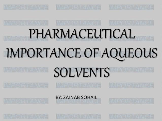 Aqueous solvents