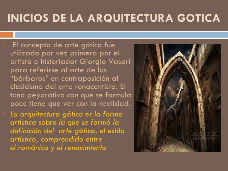 Arquitectura g tica for Que es arquitectura definicion