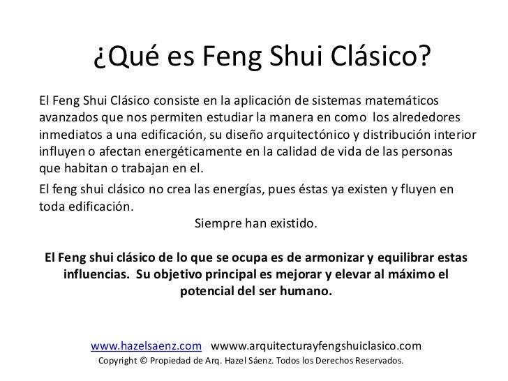 Arquitectura y feng shui clasico arq hazel saenz - Estudiar feng shui ...