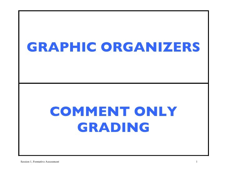 GRAPHIC ORGANIZERS                           COMMENT ONLY                          GRADING  Session 1, Formative Assessmen...