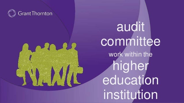 Audit committee work within the higher education institution