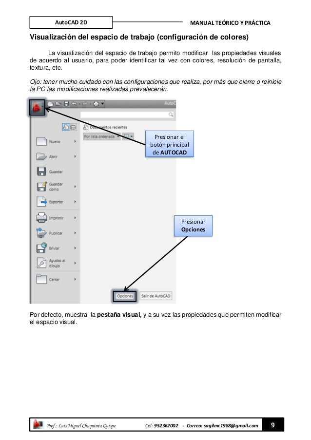 manual practico de autocad 2d rh es slideshare net manual de autocad 2018 pdf manual de autocad 2016