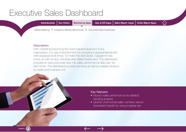 8 Introduction Our Vision Monitoring Apps Ops & HR Apps Sales Mgmt Apps Order Mgmt Apps Contact Description: With marketin...