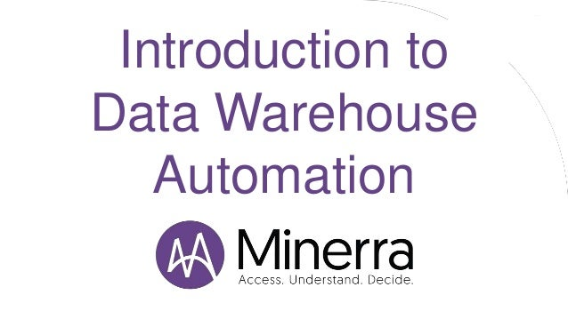 Introduction to Data Warehouse Automation