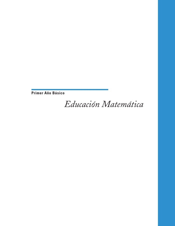 Primer Año Básico                   Educación Matemática