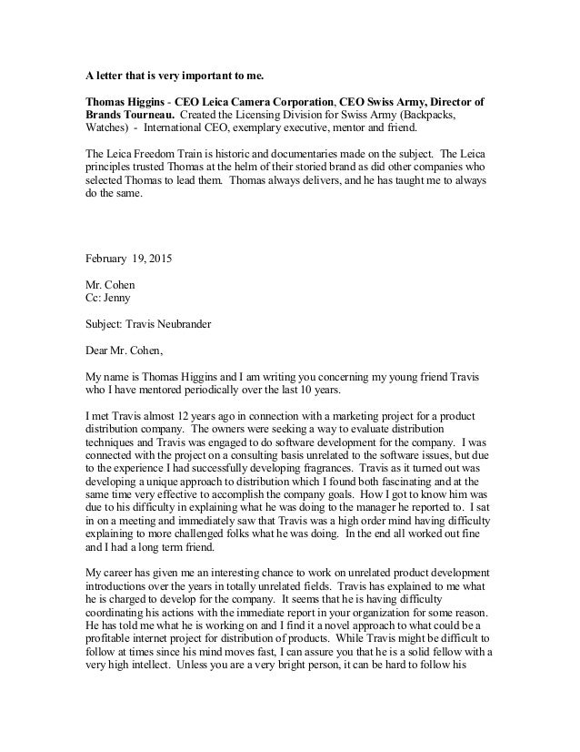 a letter that is very important to me thomas higgins ceo leica camera corporation