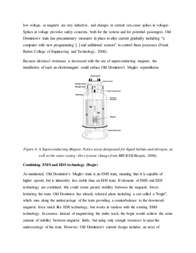 research documents about maglev trains