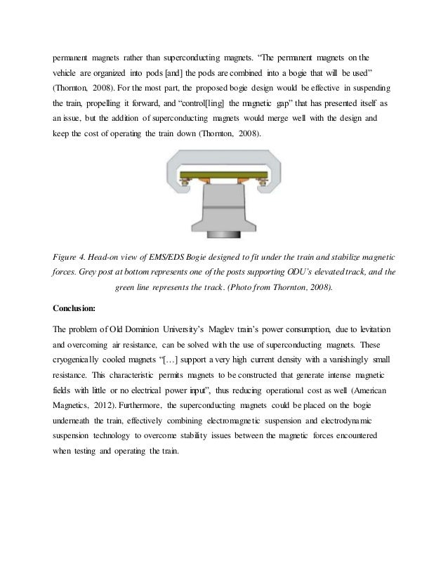 research paper upon maglev trains