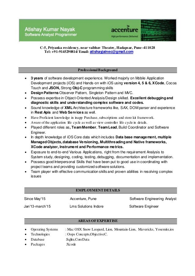 atishay resume accenture latest