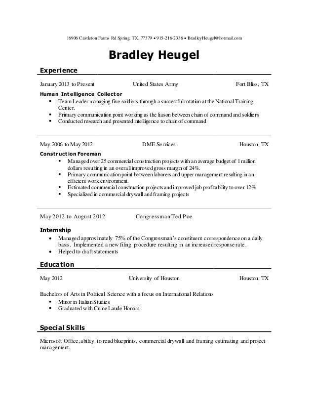 BH resume