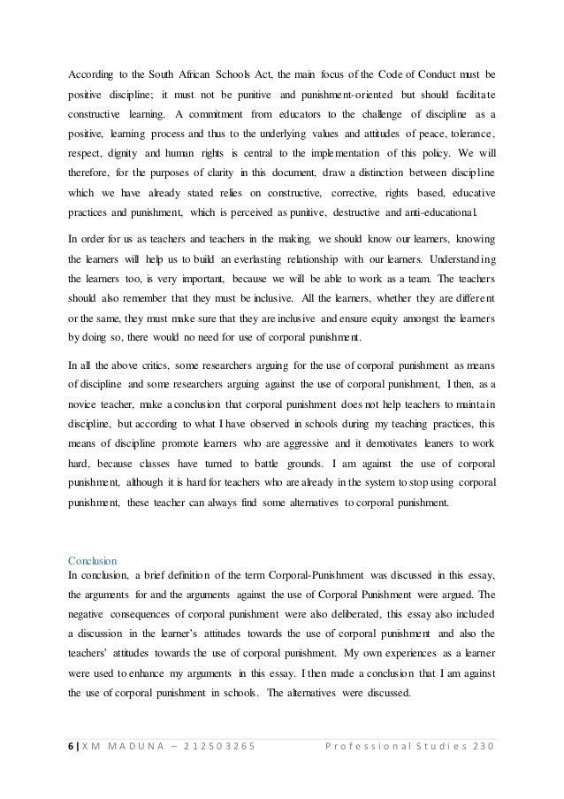 corporal punishment essay