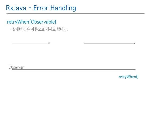 RxJava - Error Handling  retryWhen(Observable)䯽  - 실패한 경우 자동으로 재시도 합니다.䯽  !  Observer  retryWhen()