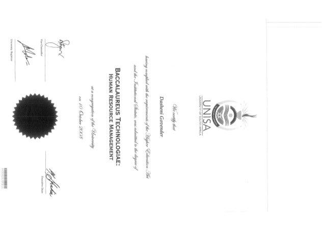 unisa degree