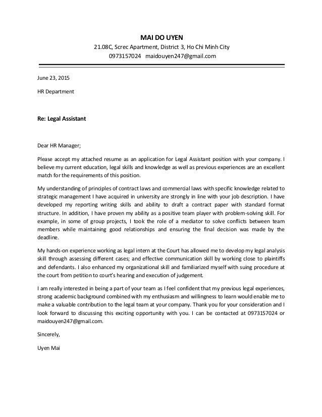 Cover Letter For Resume Law - Legal Resume Basics