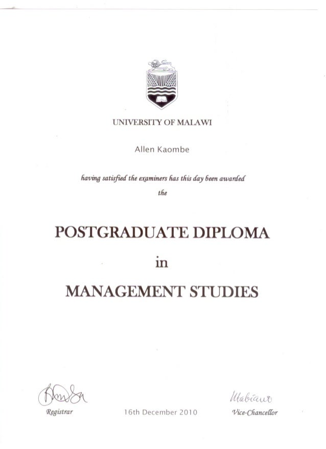 Postgraduate Diploma in Management Studies