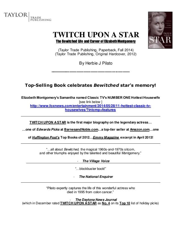 PRESS RELEASE Twitch Upon A Star
