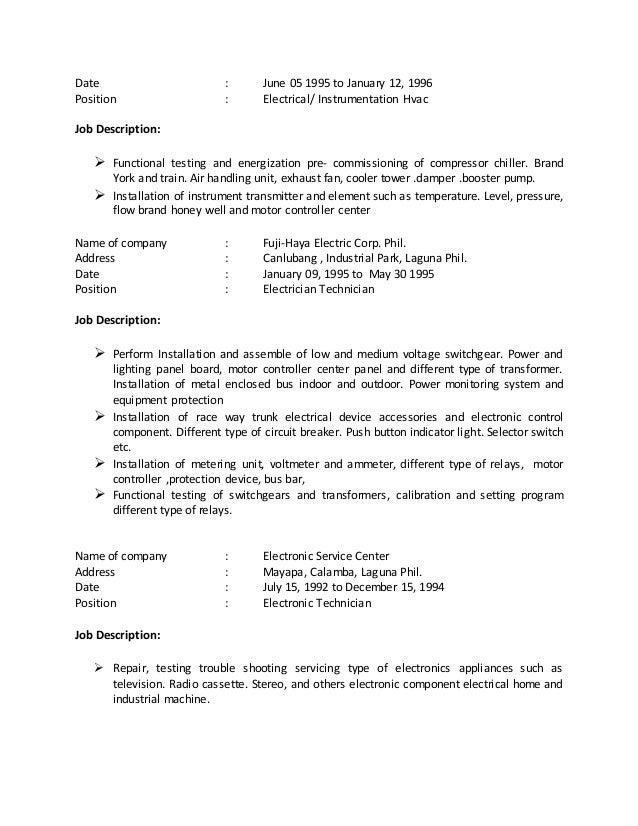 Electrician job description template | Workable