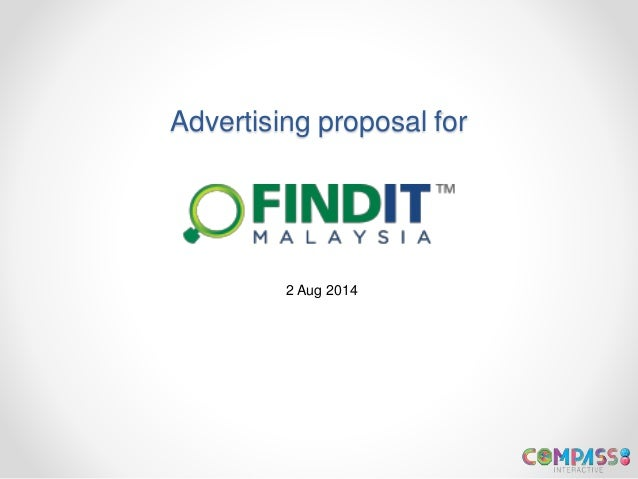 Advertising proposal for 2 Aug 2014