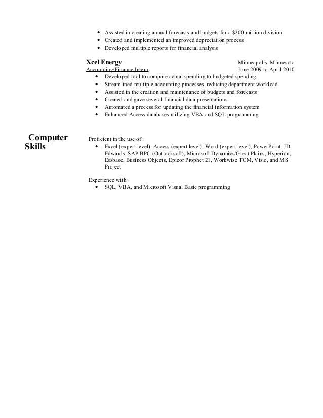 Funky Xcel Energy Resume Pueblo Co Collection - Administrative ...