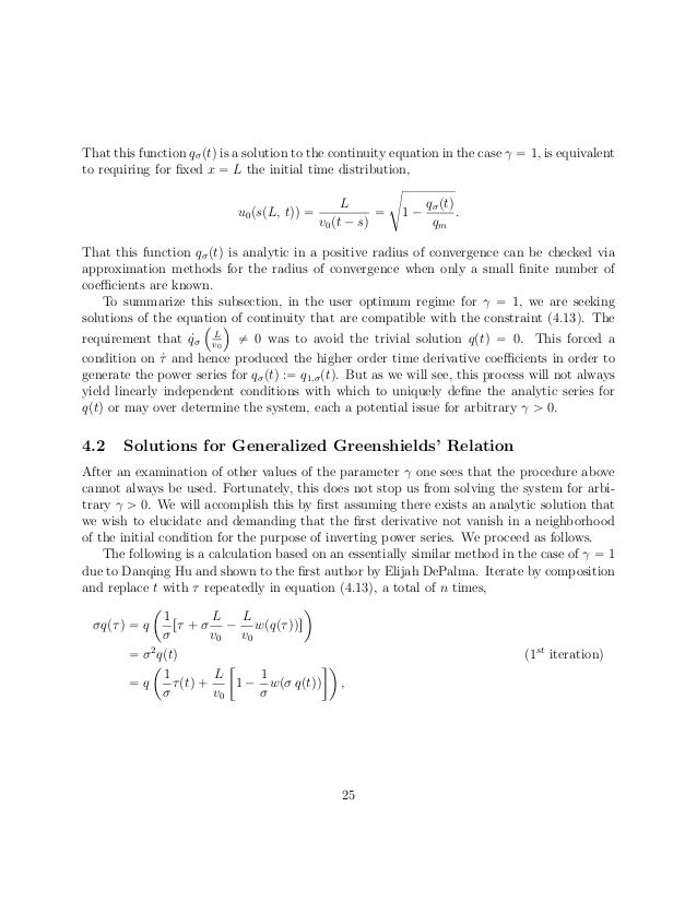 Closed-form Solutions of Generalized Greenshield Relations for the So…