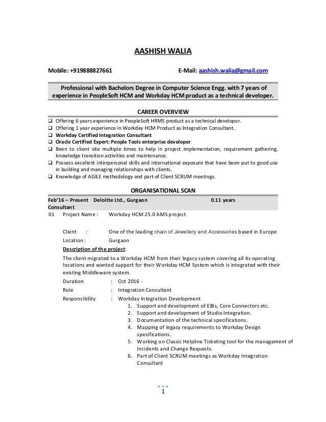 Workday Resume Resume Ideas