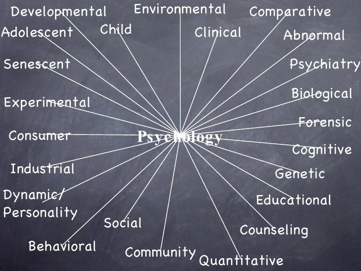 the different fields of study in psychology If you choose to study psychology at university, there are many different areas  which you can choose to focus on these include health, clinical,.