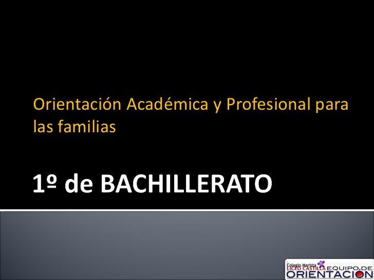 Orientación Académica y Profesional para las familias