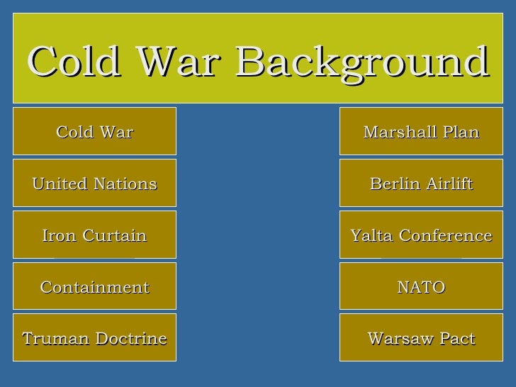 the historical background of the cold war The cold war was a state of geopolitical tension after world war ii between powers in the eastern bloc (the soviet union and its satellite states) and powers in the western bloc (the united states, its nato allies and others.