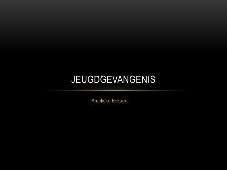 Amelieke Bekaert<br />Jeugdgevangenis<br />