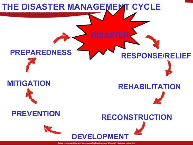 Preparedness Mitigation Reconstruction Rehabilitation Relief Disaster impact Recovery phase 19