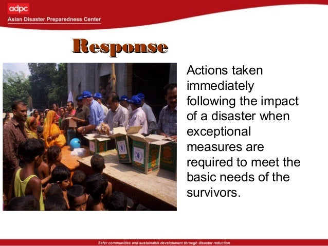 RecoveryRecovery The process undertaken by a disaster affected community to fully restore itself to pre-disaster level of ...