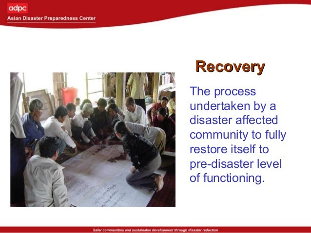 ReconstructionReconstruction Permanent measures to repair or replace damaged dwellings and infrastructure and to set the e...