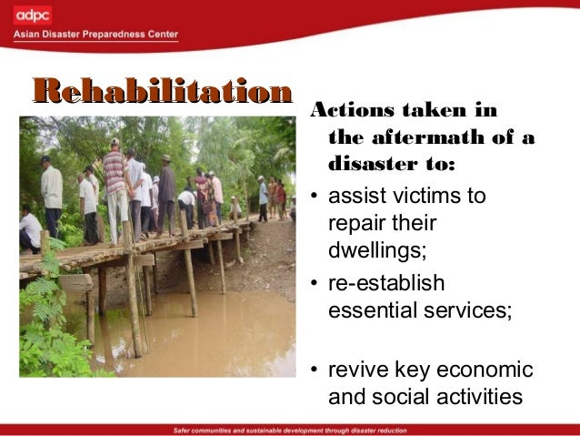MitigationMitigation Measures taken prior to the impact of a disaster to minimize its effects (sometimes referred to as st...