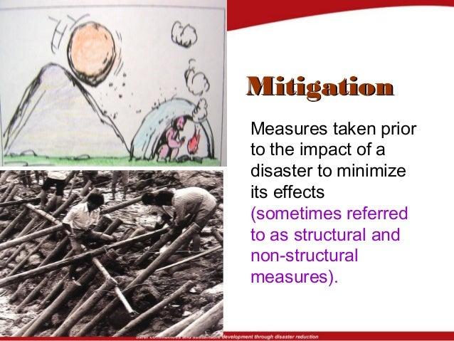 Preparedness Mitigation Mitigation Preparedness