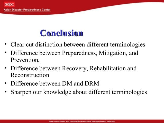 DRR basic concepts and terminologies of disaster risk reduction  DRR