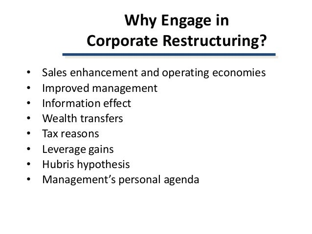 coroprate restructuring Corporate restructuring definition: a change in the business strategy of an organization resulting in diversification   | meaning, pronunciation, translations and examples.