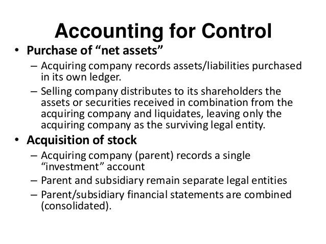 parent subsidiary relationship voting stock versus